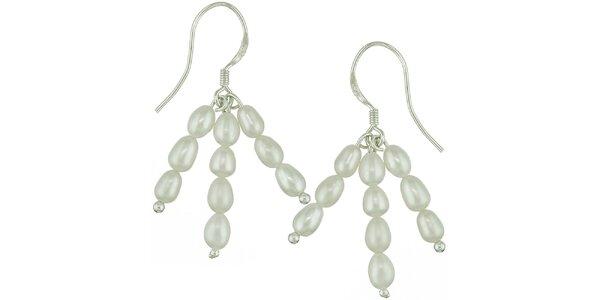 Dámské krémové perlové náušnice Orchira