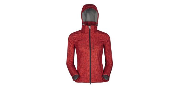 Dámská červená outdoorová bunda s potiskem Husky