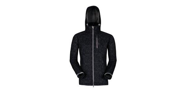 Pánská černá outdoorová bunda s potiskem Husky