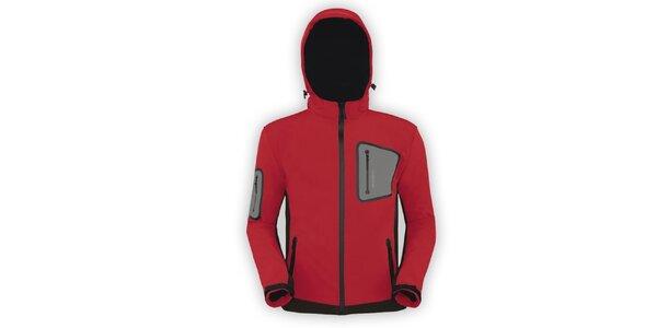 Pánská červená softshellová bunda Husky