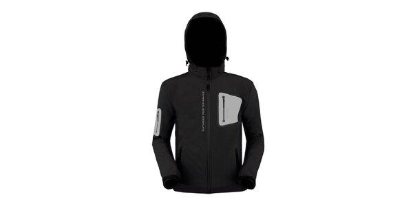 Pánská černá softshellová bunda Husky