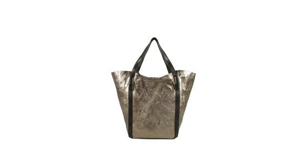 Dámská bronzovo-hnědá lesklá kabelka Joysens