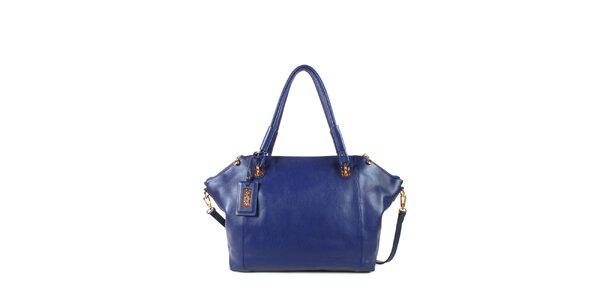 Dámská modrá kožená kabelka s odepínacím popruhem Joysens