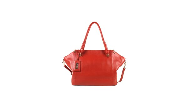 Dámská červená kožená kabelka s odepínacím popruhem Joysens