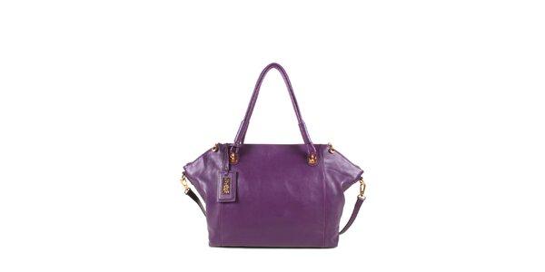 Dámská fialová kožená kabelka s odepínacím popruhem Joysens