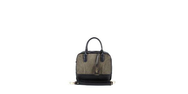 Dámská šedo-béžová kufříková kabelka Joysens