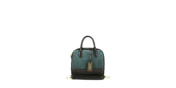 Dámská tmavě zelená kufříková kabelka Joysens