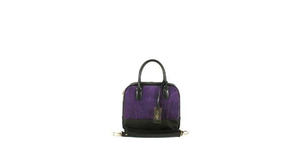 Dámská fialová kufříková kabelka Joysens