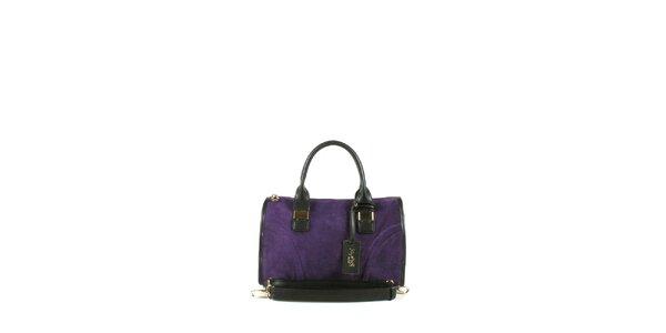 Dámská fialová kabelka se dvěma uchy Joysens