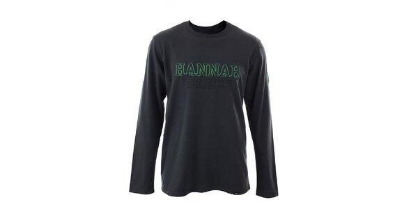 Pánské tmavě šedé tričko s dlouhými rukávy Hannah