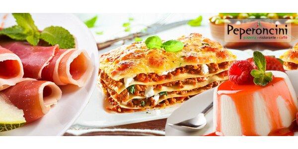 Italské menu o 3 chodech pro dva