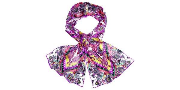 Dámský pestře vzorovaný hedvábný šátek Fraas 4a4b8e9598