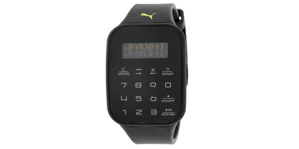 Pánské černé digitální hodinky Puma