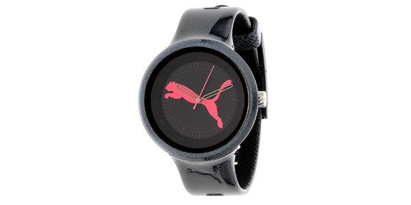 Dámské černé metalické hodinky Puma