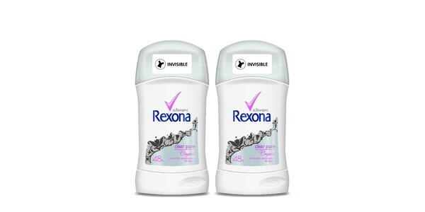 2xRexona deo stick Clear Pure 40ml