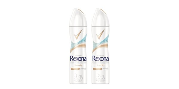 2xRexona deo spray Linen Dry 150ml