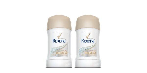 2xRexona deo stick Linen Dry 40ml