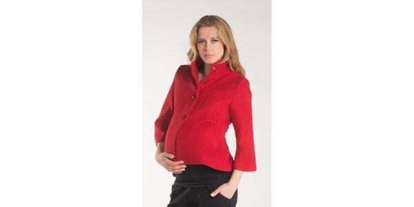 Dámský červený kabátek Mom2mom