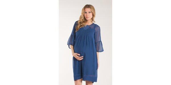 Dámské sytě modré šaty Mom2mom