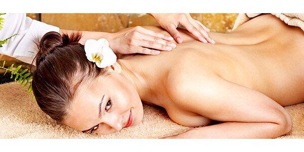 Terapeutická masáž zad, šíje nebo celého těla