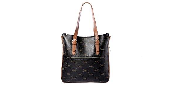Černá kabelka s logem b&b