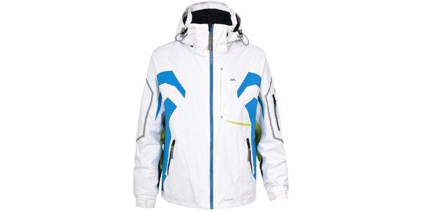 Pánská bílá lyžařská bunda s barevnými detaily Trespass