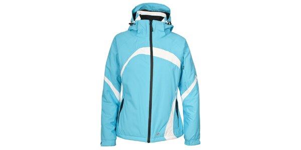 Dámská tyrkysová lyžařská bunda s bílými detaily Trespass