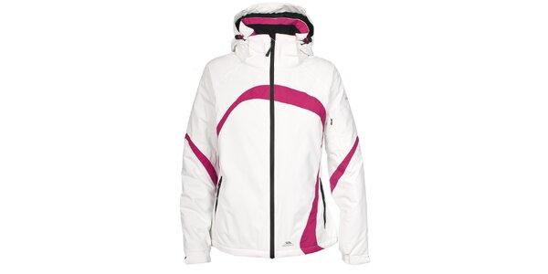 Dámská bílá lyžařská bunda s růžovými detaily Trespass