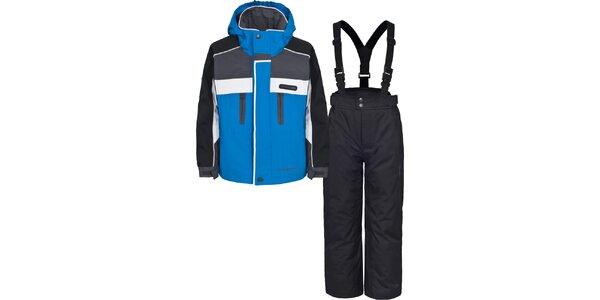 Dětský černo-modrý lyžařský komplet Trespass