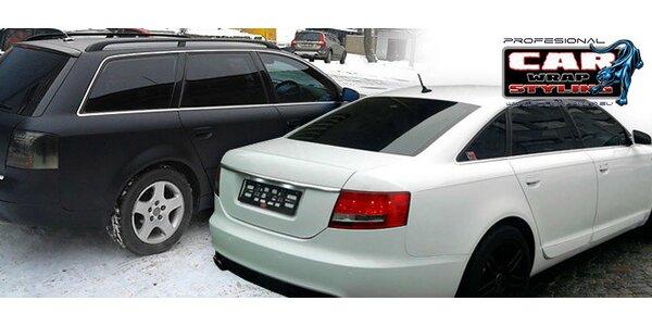 Certifikované tónovací folie na auto včetně montáže
