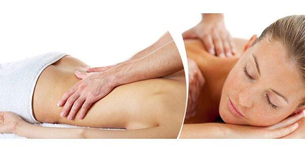 60minutová relaxační masáž celého těla