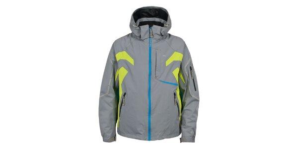 Pánská šedá lyžařská bunda s barevnými detaily Trespass