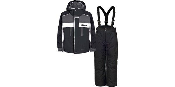 Dětský černo-šedý lyžařský komplet Trespass