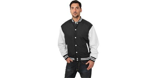 Pánská lehká černá bunda Urban Classics s bílými rukávy