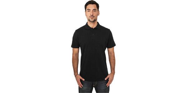 Pánské černé polo tričko Urban Classics