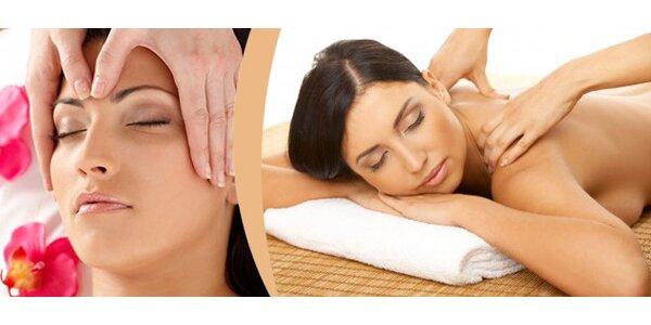 30minutová antistresová masáž hlavy, ramen a šíje