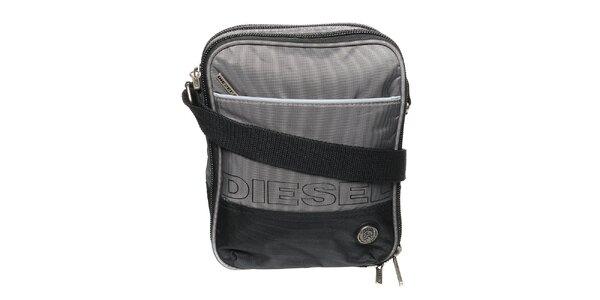 Pánský šedo-černý messenger Diesel