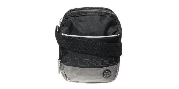 Pánský černo-šedý messenger Diesel