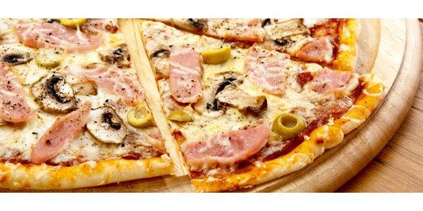 50% sleva na skvělou obří pizzu až pro 4 osoby