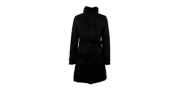 Dámský černý dlouhý kabátek s páskem Company&Co