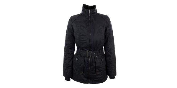 Dámská černá bunda s páskem Company&Co
