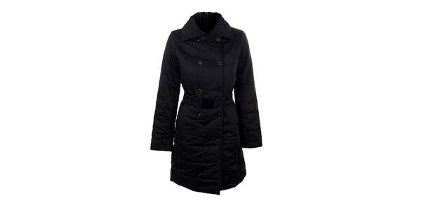 Dámský černý elegantní kabát s páskem Company&Co