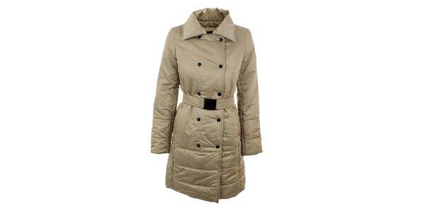 Dámský béžový elegantní kabát s páskem Company&Co