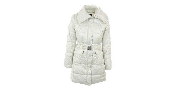 Dámský bílo-šedý šusťákový kabát s límcem Compan&Co