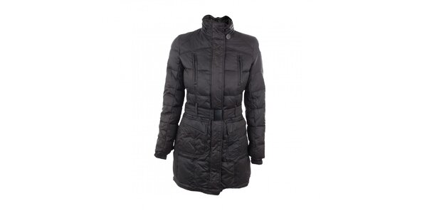 Dámský péřový kabát černé barvy Company&Co
