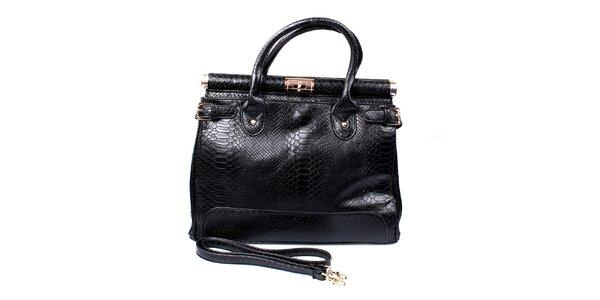 Dámská černá kabelka se zámečkem London Fashion