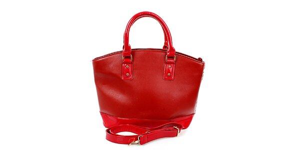 Dámská velká rudá kabelka London Fashion