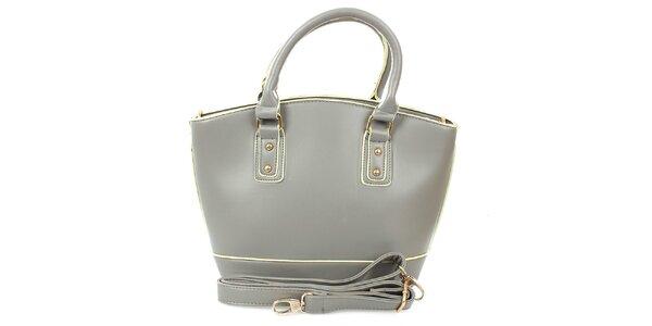 Dámská šedá shopper taška London Fashion