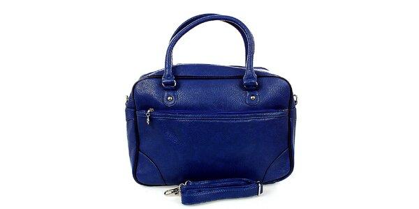 Dámská modrá bowlingová kabelka London Fashion