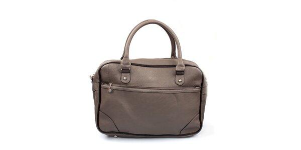 Dámská šedá kabelka s černým lemováním London Fashion